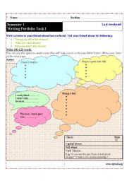 English Worksheets: Writing about Habits in the Past