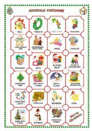CHRISTMAS PICTIONARY - worksheet by Patricia Elvira