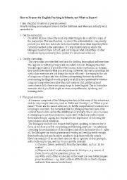 English Worksheets: for teacher