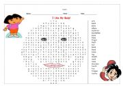 English Worksheets: body words