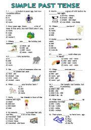 English Worksheet: Simple Past Tense test