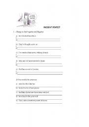 English Worksheets: Present Perfec