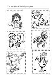 printable coloring pages healthy habits | El cuerpo preescolar ... | 256x180