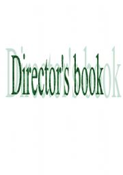 English Worksheets: Director�s book
