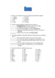 English Worksheets: EVERYTHING ABOUT NOUN