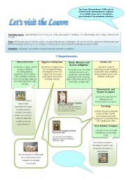 English Worksheets: Let´s visit the Louvre