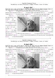 English Worksheets: A dog�s life...