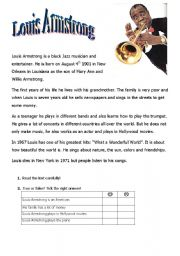English Worksheets: Louis Armstrong