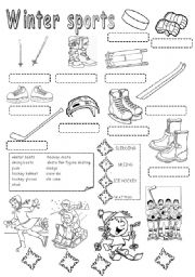 math worksheet : english teaching worksheets winter sports : Winter Worksheets For Kindergarten