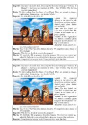 English Worksheets: Interview about animals
