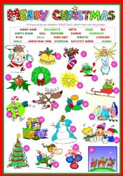English Worksheets: MERRY CHRISTMAS