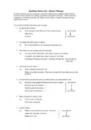 English worksheet: Leaving a Voicemail of Absence