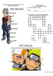English Worksheets: Body & Face