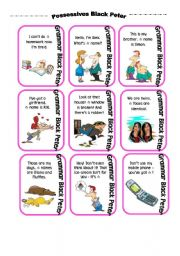 POSSESSIVE ADJECTIVES AND PRONOUNS Black Peter card game (part 1)