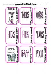 POSSESSIVE ADJECTIVES AND PRONOUNS Black Peter card game (part 2)