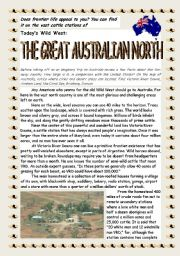 English Worksheets: Reading_The Great Australian North Part 1
