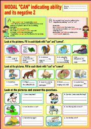 English Worksheet: Modal