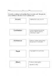 English Worksheets: Magnet words