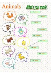 English Worksheets: What´s your name? (2)
