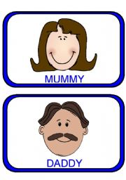 FAMILY flashcards with faces