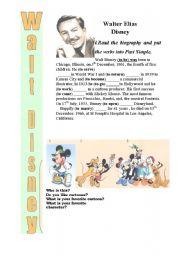 English Worksheets: Walt Disney Past Simple