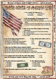 English Worksheet: USA-Quiz