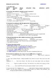 English Worksheet: ENGLISH ALIVE 4º ESO - PRACTICE TEST - UNIT 3