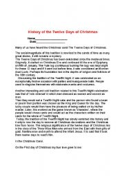 History 12 Days Of Christmas