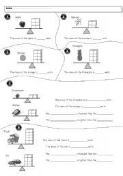 English Worksheets: Weight