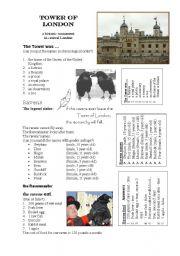 English Worksheet: tower of london