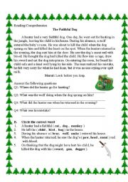 English worksheet: the faithful dog