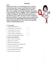 Reading Activity for elementary