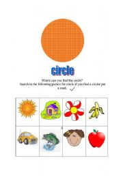 English worksheet: find the cicle