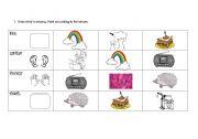 English Worksheets: body senses