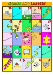 Snakes and ladders -ing colour