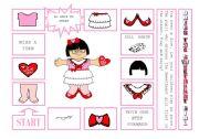 English Worksheet: DRESS THE SWEETHEART GIRL