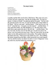 English Worksheets: The Magic Basket