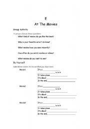English Worksheets: film talking