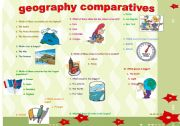 English Worksheets: COMPARATIVES -geography-