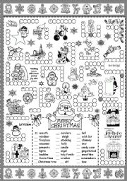 English Worksheet: Christmas puzzle