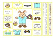 English Worksheet: DRESS THE EASTER BUNNY