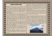 English Worksheets: Costa Rica National Parks (1of 3 set)