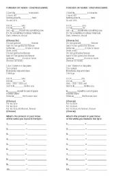 English Worksheet:  Forever or never  - Future song using going to (gonna) for teens.