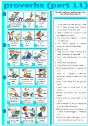 English Worksheet: PROVERBS - PART 11