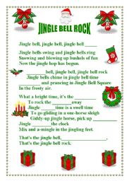 English Worksheet: JINGLE BELL ROCK