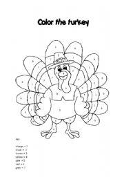 English Worksheet: the turkey