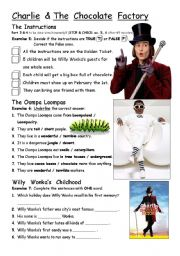 English Worksheets: PART 3/4 Charlie & The Chocolate Factory - movie worksheet