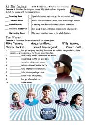 English Worksheet: PART 4/4 Charlie & The Chocolate Factory - movie worksheet