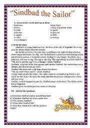 English Worksheets: Sindbad the Sailor