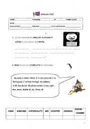 English Worksheets: English woksheet